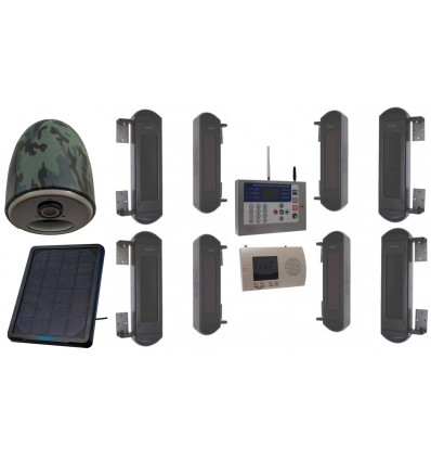 Wireless Perimeter Beam Alarm with 4G Solar Camera