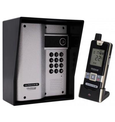 Wireless Gate & Door Intercom with Keypad (UltraCom2) Silver & Black Hood