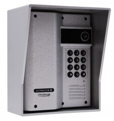 UltraCOM2 Caller Station with Keypad, Silver with Silver Hood