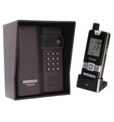 Wireless Gate & Door Intercom with Keypad (UltraCom2) Black & Black Hood