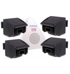 4 x PIR DA600-T Wireless Garden & Driveway Alarm