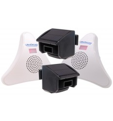 2 x PIR & 2 x Receiver DA600-T Wireless Garden & Driveway Alarm