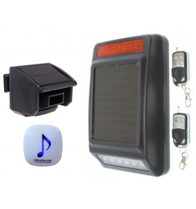 DA600 Wireless Garden & Driveway Alarm with Solar Siren