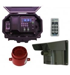 Long Range Wireless Driveway PIR Alarm with Outdoor Receiver & Adj Siren