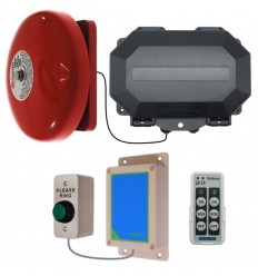Wireless Commercial Bell Kit with Heavy Duty Push Button