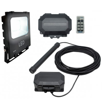 Flood Light with a Metal Detecting Driveway Alarm & Outdoor Receiver