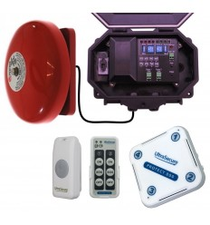 Wireless Commercial Bell Kit with additional Chime Receiver