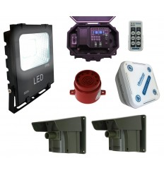 Floodlight & Adjustable Siren Driveway Alarm
