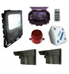 Floodlight & Adjustable Siren Driveway Alarm