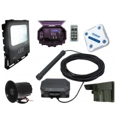 Floodlight & Siren Wireless Driveway PIR, Probe Alarm & Indoor Chime Receiver