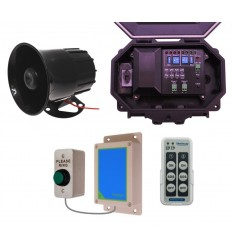 Wireless Commercial Siren Kit inc Heavy Duty Push Button & Loud Siren with adjustable duration