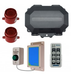 Wireless Commercial Siren Kit inc Heavy Duty Push Button & 2 x adjustable Sirens