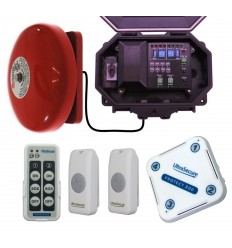 Twin Doorbell Wireless Commercial Bell Kit (with an adjustable loud bell) & additional Chime Receiver