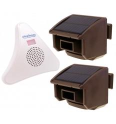 2 x PIR DA600-T Wireless Garden & Driveway Alert