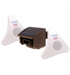 2 x Receiver DA600-T Wireless Driveway Alert (brown pir)