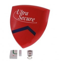External Magnetic Contact & Battery Smart Alarm Siren & Flashing Strobe.