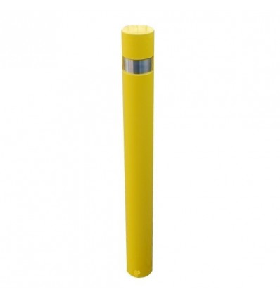 Fixed Yellow Steel 120FY Post & Reflective Stainless Steel  Insert