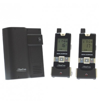 600 metre Wireless UltraCom Intercom & 2 x Handsets (no keypad)