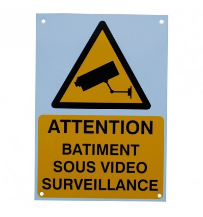 French A4 External CCTV Warning Sign