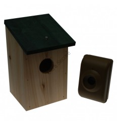 Wireless DCMT External PIR & Wooden Bird-box