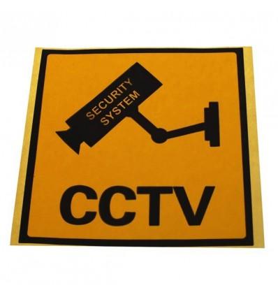 English Language CCTV Window Sticker