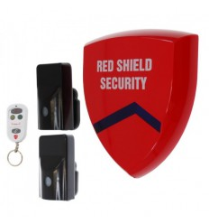Battery Siren Wireless Alarm (smart) & 2 x External PIR's