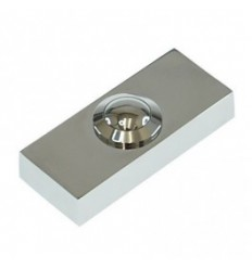 Chrome Push Button, often used with Ultra Secure Direct's Long Range Wireless Door bell