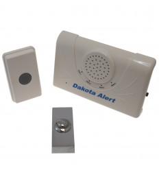 Long Range Wireless Bell & Chrome Push Button.