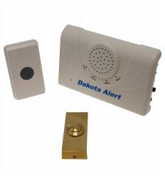 Long Range Wireless Bell & Brass Push Button.