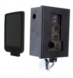 Battery CCTV Camera with Protective Steel Cage & Solar Charger