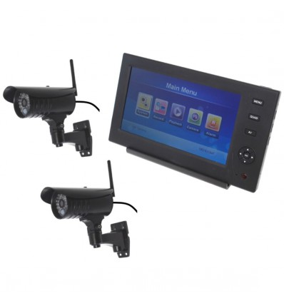 Wireless Network CCTV with 2 x 20 metre Night Vision External Camera