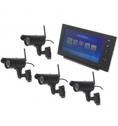 Wireless Network CCTV with 4 x 20 metre Night Vision External Camera